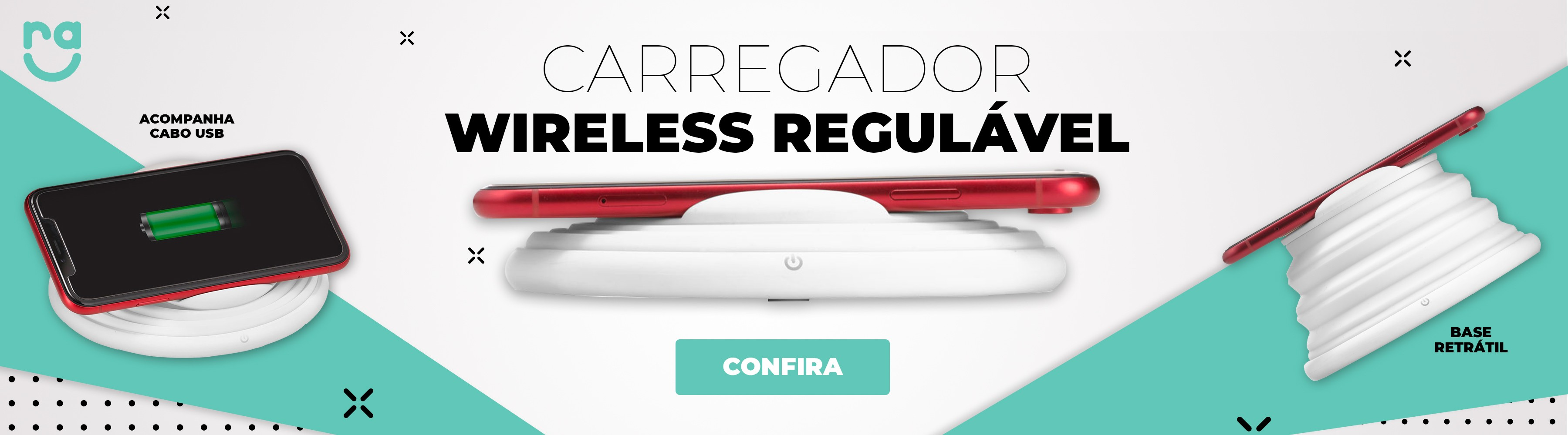 Carregador Wireless Branco