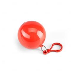 Chaveiro Porta Capa De Chuva Personalizado Vermelho