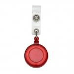 Porta Crachá Retrátil Personalizado Vermelho