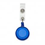 Porta Crachá Retrátil Personalizado Azul