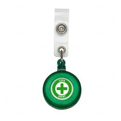 Porta Crachá Retrátil Personalizado Verde