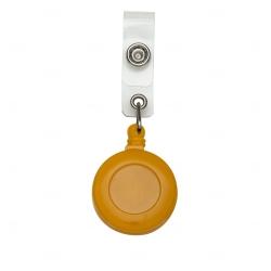Porta Crachá Retrátil Para cordão de crachá Personalizado Laranja