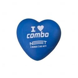 Coração Anti-stress Personalizada Azul
