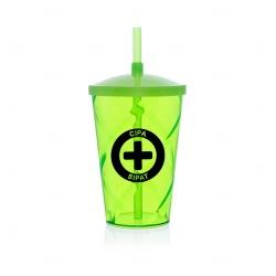 Copo com Canudo e Tampa Personalizado - 750 ml Verde Claro