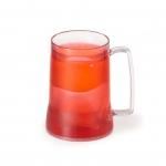Caneca Personalizada  Acrílica Com Gel Colorido - 400ml Vermelho