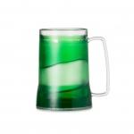 Caneca Personalizada  Acrílica Com Gel Colorido - 400ml Verde