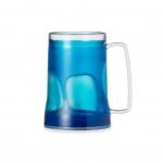 Caneca Personalizada  Acrílica Com Gel Colorido - 400ml Azul