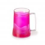 Caneca Personalizada  Acrílica Com Gel Colorido - 400ml Rosa
