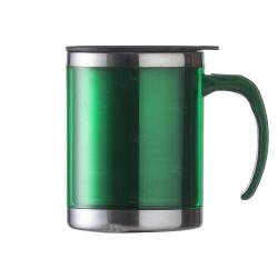 Caneca De Inox Colorido Personalizada - 400 ml Verde