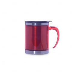 Caneca De Inox Colorido Personalizada - 400 ml Vermelho