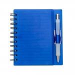 Bloco de Anotações com Caneta Personalizada - 16,1 x 14,8 cm Azul