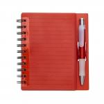 Bloco de Anotações com Caneta Personalizada - 16,1 x 14,8 cm Vermelho