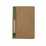 Bloco De Anotações Post-It e Caneta Personalizado - 15,5 x 10 cm Verde Escuro