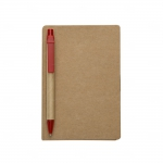 Bloco De Anotações Post-It e Caneta Personalizado - 15,5 x 10 cm Vermelho