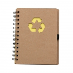 Bloco De Anotações Ecológico Personalizado - 18 x 11,5 cm Amarelo