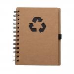 Bloco De Anotações Ecológico Personalizado - 18 x 11,5 cm Preto