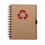 Bloco De Anotações Ecológico Personalizado - 18 x 11,5 cm Vermelho