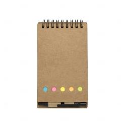Bloco De Anotações Eco e Post It Personalizado - 15,8 x 8,8 cm Preto
