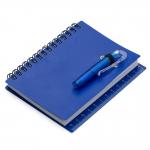 Bloco de Anotações com Caneta Personalizado - 13,3 x 10,5 cm Azul