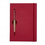 Bloco De Anotações Com Caneta Personalizada - 19,7 x 13,5 cm Vermelho
