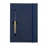Bloco De Anotações Com Caneta Personalizada - 19,7 x 13,5 cm Azul Marinho