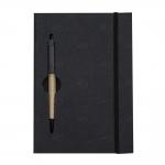 Bloco De Anotações Com Caneta Personalizada - 19,7 x 13,5 cm Preto