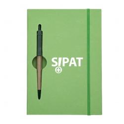 Bloco De Anotações Com Caneta Personalizada - 19,7 x 13,5 cm Verde