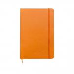Caderno Tipo Moleskine C/ Pauta Personalizado - 18 x 13 cm Laranja