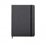 Caderno Tipo Moleskine C/ Pauta Personalizado - 18 x 13 cm Preto
