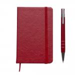 Bloco De Anotações Couro Sintético Personalizado - 14 x 9 cm Vermelho