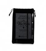Caderneta c/ Caneta e Saco De Veludo Personalizado - 19,8x11,8cm