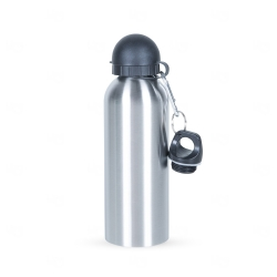 Squeeze Alumínio C/ Bico e Mosquetão Personalizado - 500 ml Inox