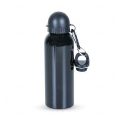 Squeeze Alumínio C/ Bico e Mosquetão Personalizado - 500 ml Preto