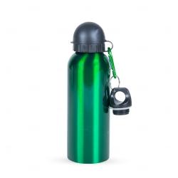 Squeeze Alumínio C/ Bico e Mosquetão Personalizado - 500 ml Verde