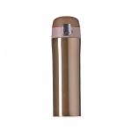 Garrafa Térmica de Metal C/ Trava Personalizada - 450ml Dourado