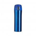 Garrafa Térmica de Metal C/ Trava Personalizada - 450ml Azul