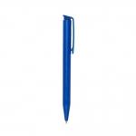 Caneta Fosca de Plástico Personalizada Azul