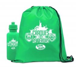Kit Sacochila & Squeeze Personalizado - 2 Peças Verde