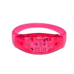 Pulseira Musical LED Personalizada Rosa