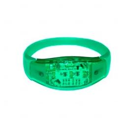 Pulseira Musical LED Personalizada Verde