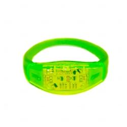 Pulseira Musical LED Personalizada Verde Claro
