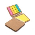 Bloco De Notas Ecológico Com Post-It Personalizado - 7,5 x 7 cm Kraft
