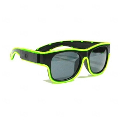 Óculos Luminoso Neon Personalizado Verde Claro