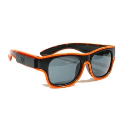 Óculos Luminoso Neon Personalizado Laranja