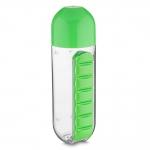 Squeeze Plástica com Porta Comprimidos Personalizado - 740ml Verde