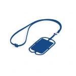 Porta Cartão Celular Silicone Personalizado Azul