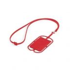 Porta Cartão Celular Silicone Personalizado Vermelho