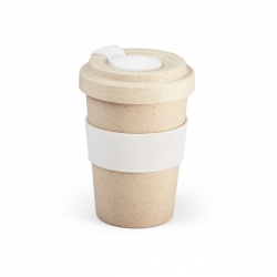 Copo de Fibra Bambu Personalizado - 500 ml Branco