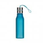 Garrafa de Plástico com Alça de Silicone Personalizada - 600 ml Azul Claro