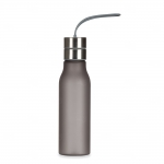 Garrafa de Plástico com Alça de Silicone Personalizada - 600 ml Chumbo